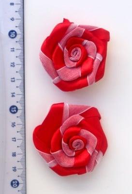 Роза САТЕН с органза 50 мм -10 броя