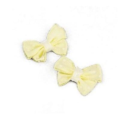 Панделка 24x17~18 мм жълта с бели шарки - 5 броя