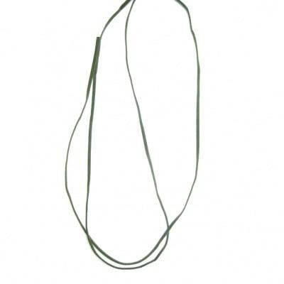 Лента велур 3x1 мм зелена -10 броя x 1 метър