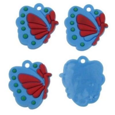 Фигурка гумена пеперуда 20 мм -10 броя