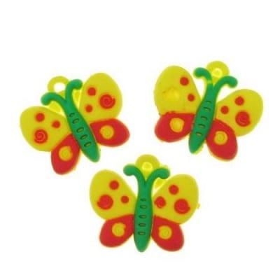 Фигурка гумена 20 мм пеперуда -10 броя