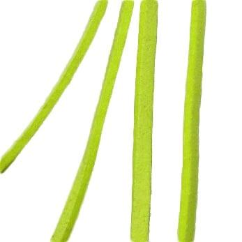 Лента велур естествен 3 мм жълт -5 метра