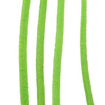 Лента велур естествен 3 мм зелен -5 метра