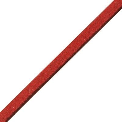 Лента велур естествен 3 мм червен 91 метра