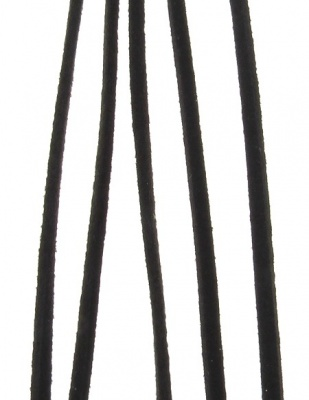 Лента велур естествен 3 мм черен ~50 см -1 брой