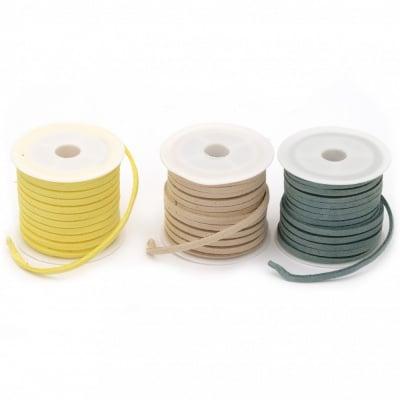 Лента велур 3х1.5 мм цвят АСОРТЕ -5 метра
