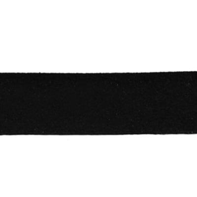 Лента еко велур 20x1.4 мм черен - 1 метър