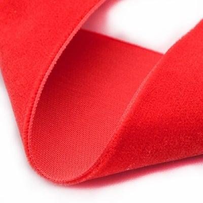 Лента кадифе 10мм червена -3 метра