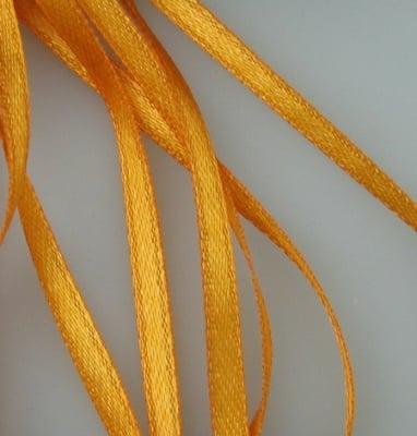 Ширит Сатен 3 мм оранжев тъмен -10 метра