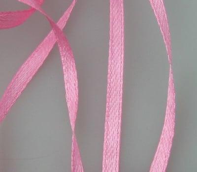 Ширит Сатен 3 мм розов -10 метра