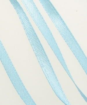 Ширит Сатен 3 мм син небесно -10 метра