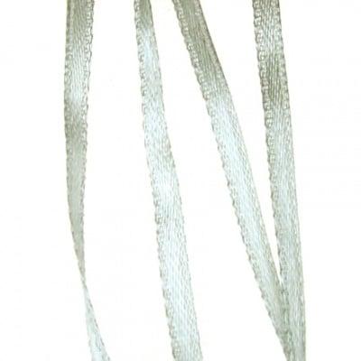 Ширит Сатен 3 мм сребро -10 метра