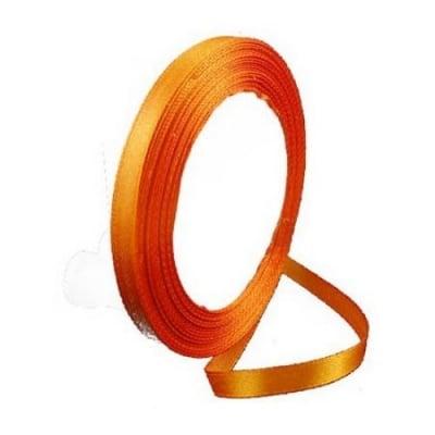 Ширит сатен 6 мм оранжев -22 метра
