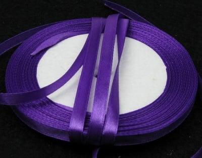 Ширит cатен 6 мм лилав тъмно ~22 метра