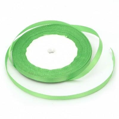 Ширит cатен 6 мм зелен ~22 метра
