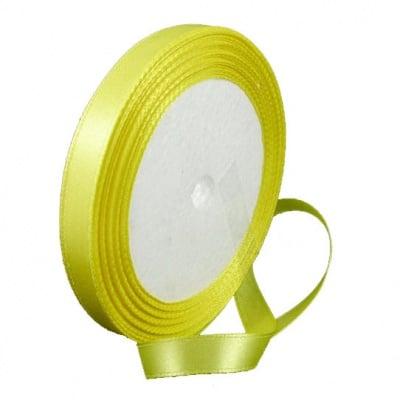 Ширит cатен 10 мм жълт ~22 метра