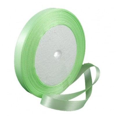 Ширит cатен 10 мм зелен бледо ±22 метра