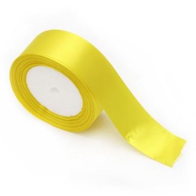 Ширит сатен 37 мм жълт -22 метра