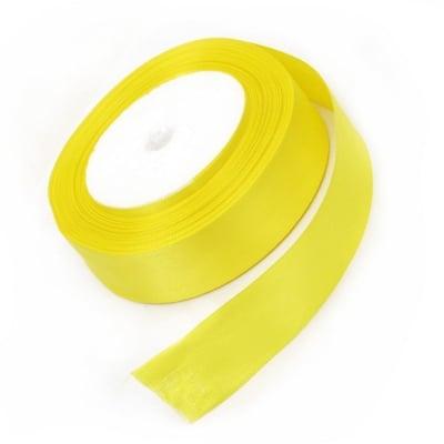 Ширит сатен 25 мм жълт ±22 метра
