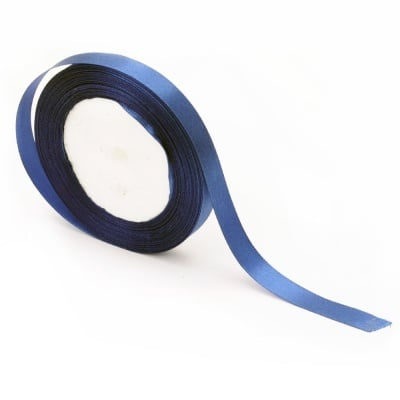 Ширит cатен 12 мм син тъмно ~22 метра
