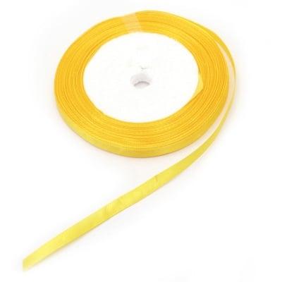 Ширит cатен 6 мм жълт тъмно ~22 метра