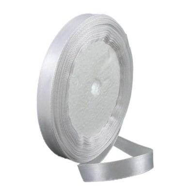 Ширит сатен 25 мм бял ±22 метра