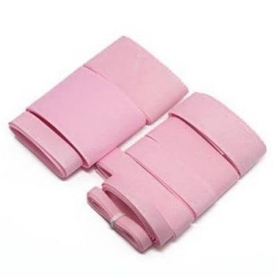 Комплект ленти сатен рипс с ширина от 6 мм до 50 мм -9 размера x 1 метър цвят розов