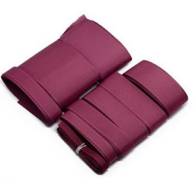 Комплект ленти сатен рипс с ширина от 6 мм до 50 мм -9 размера x 1 метър цвят бордо