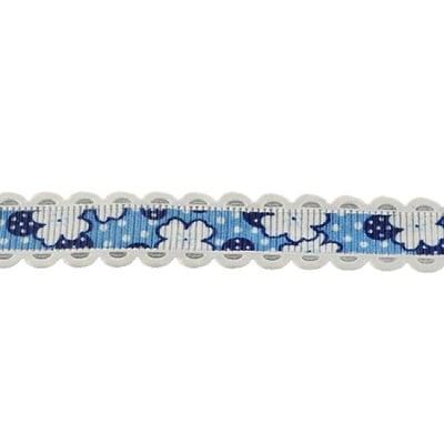 Лента сатен 15 мм рипс синя -2 метра