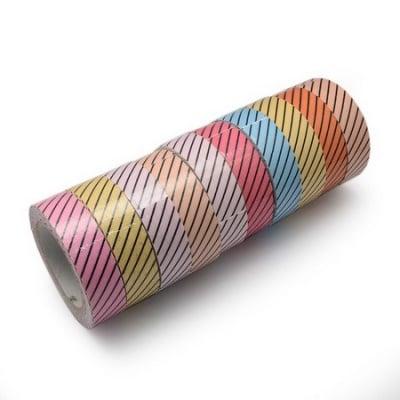 Лента текстил 15 мм самозалепваща АСОРТЕ цветове -4 метра