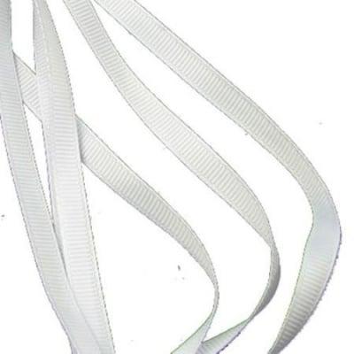 Ширит Сатен 6 мм рипс бял -10 метра