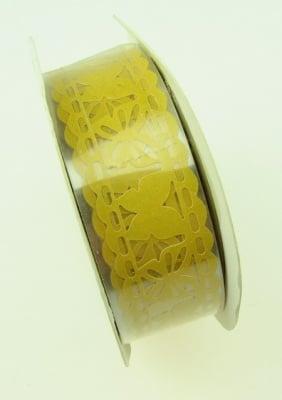Лента хартия 18 мм самозалепваща жълта с пеперуди -1 метра