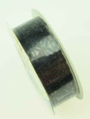 Лента хартия 18 мм самозалепваща черна с пеперуди -1 метра