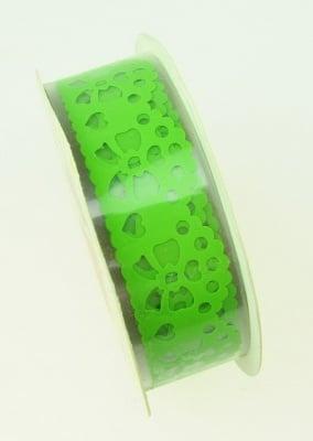 Лента полипропилен 15 мм самозалепваща зелена с панделки -1 метър