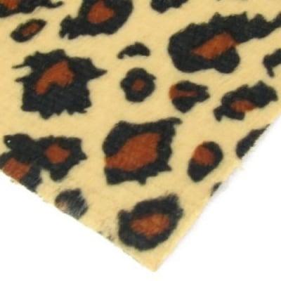 Велур А4 (21x29.7 см) самозалепващ леопардов десен кафяв