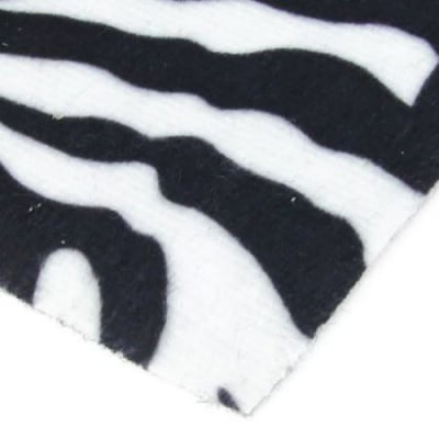 Велур А4 (21x29.7 см) самозалепващ тигров десен бял