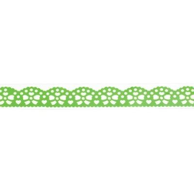 Лента полипропилен 19 мм самозалепваща зелена с панделки -1 метра