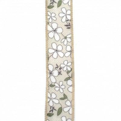 Лента зебло 38 мм цветя -1 метър