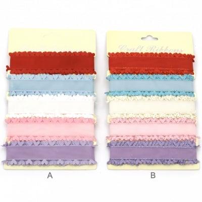 Лента текстил 28 мм 5 цвята x1.8 метра