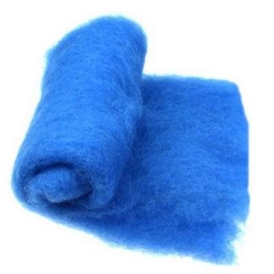 ВЪЛНА 100 % Филц за нетъкан текстил 700х600 мм екстра качество синя -50 грама