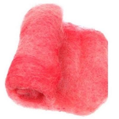 ВЪЛНА 100 % Филц за нетъкан текстил 700х600 мм екстра качество меланж бяло, червено -50 грама