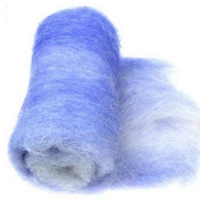 ВЪЛНА 100 % Филц за нетъкан текстил 700х600 мм екстра качество меланж лилаво,бяло -50 грама