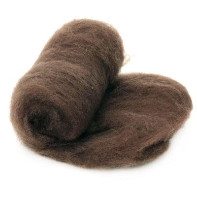 ВЪЛНА 100 % Филц за нетъкан текстил 700х600 мм екстра качество кафява светла -50 грама