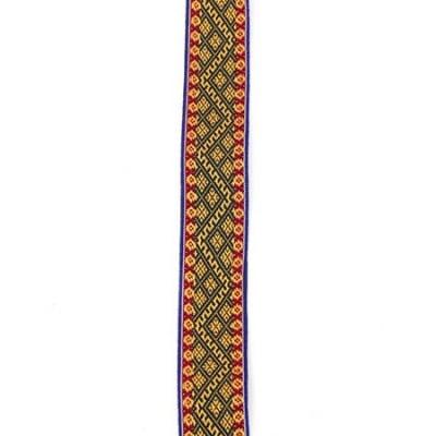 Ширит 30 мм син с жълто, зелено и червено -5 метра