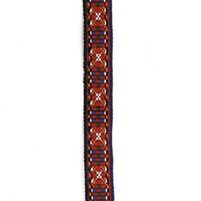 Ширит 18 мм син с червено шахмат -1 метър