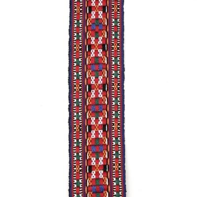 Ширит 45 мм син с червено шахмат -1 метър