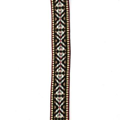 Ширит 25 мм черен с бяло и зелено -5 метра