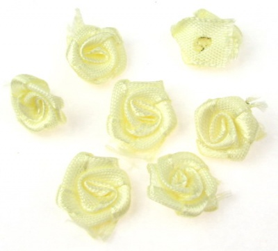 Роза 11 мм жълта светла -50 броя