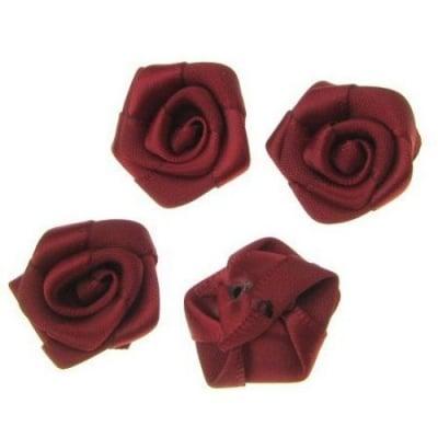 Роза 25 мм бордо -10 броя