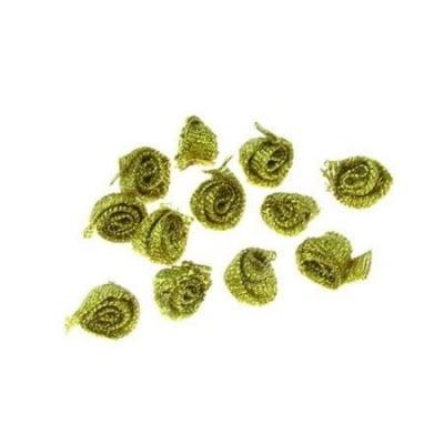 Роза 8 мм злато ламе -50 броя